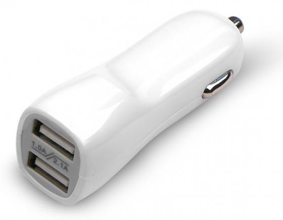 Автомобильное зарядное устройство Jet.A UC-Z17 2.1A 2х USB белый цена и фото