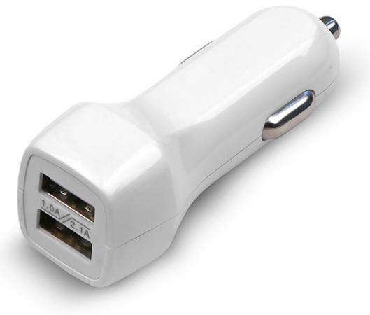 Автомобильное зарядное устройство Jet.A UC-Z15 2.1A 2х USB белый автомобильное зарядное устройство jet a uc s16 2х usb 2 1a белый