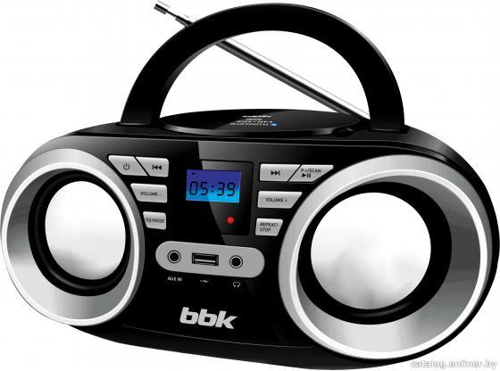 Магнитола BBK BX160BT черно-серебристый