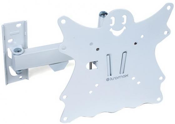 Кронштейн Kromax CASPER-204 белый LED/LCD 20-43 5 степеней свободы наклон +5°-15° поворот 180° 57-410 мм от стены VESA 200x200 max 30 кг kromax casper 201
