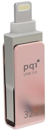 где купить  Флешка USB 32Gb PQI iConnect mini розовый 6I04-032GR3001  по лучшей цене