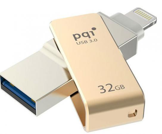 где купить  Флешка USB 32Gb PQI iConnect mini золотистый 6I04-032GR2001  по лучшей цене