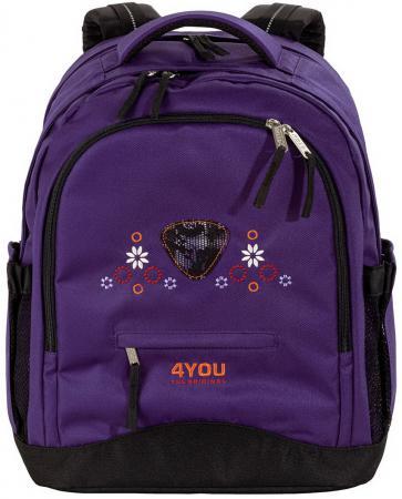 Школьный рюкзак ортопедический 4YOU compact Кружево 30 л фиолетовый 112901-419 цена