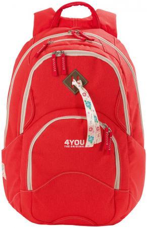 Рюкзак с анатомической спинкой 4YOU Flow Коралл 26 л 141000-236 рюкзак детский 4you 4you рюкзак flow дикие девчонки