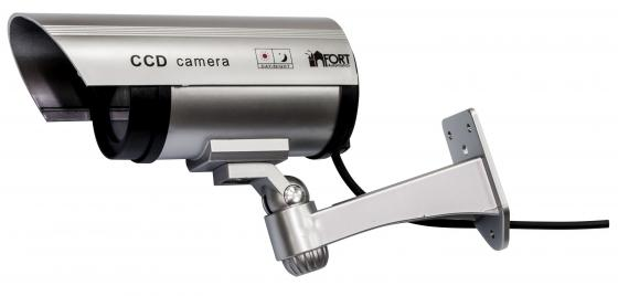 Муляж камеры видеонаблюдения FORT Automatics DC-027 наружное исполнение, красный светодиод RET фиолетовая коробка муляж камеры видеонаблюдения fort automatics dc 027 наружное исполнение красный светодиод ret фиоле