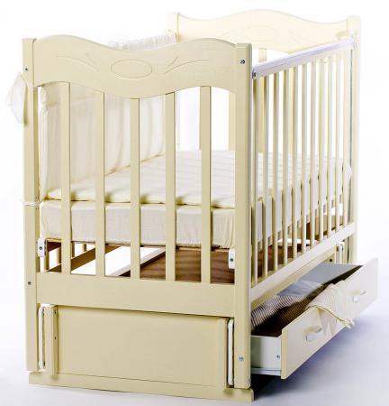 Кроватка с маятником Ведрус Милена (слоновая кость)