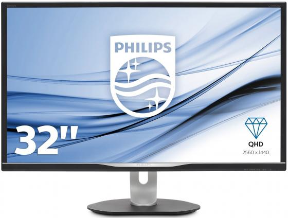 Монитор 32 Philips BDM3270QP 00 черный A-MVA 2560x1440 300 cd/m^2 4 ms (G-t-G) DVI HDMI DisplayPort VGA USB монитор lg 24ud58 b черный ips 3840x2160 250 cd m^2 5 ms g t g hdmi displayport