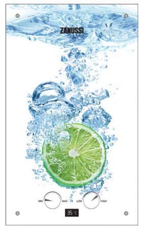 Водонагреватель проточный Zanussi GWH 10 Fonte Glass Lime 18.5 кВт водонагреватель накопительный zanussi zwh s 10 melody u yellow