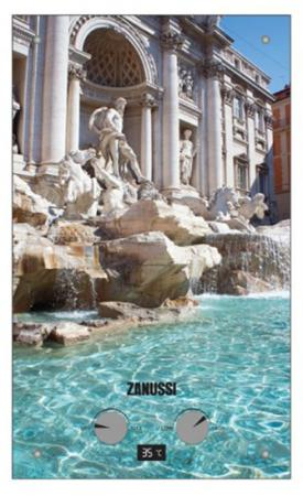 Водонагреватель проточный Zanussi GWH 10 Fonte Glass Trevi 18.5 кВт  цена и фото