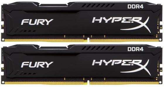 Оперативная память 16Gb (2x8Gb) PC4-17000 2133MHz DDR4 DIMM CL14 Kingston HX421C14FB2K2/16 модуль памяти kingston hyperx fury black pc4 17000 dimm ddr4 2133mhz cl14 16gb kit 2x8gb hx421c14fbk2 16