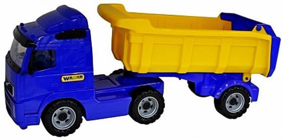 Самосвал Wader с полуприцепом + трактор-погрузчик 2 шт 85.5 см синий 0384 wader трактор гигант