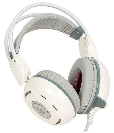 Игровая гарнитура проводная A4TECH Bloody G300 белый все цены
