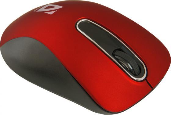 Мышь беспроводная Defender Datum MM-075 красный USB 52076 мышь defender datum mm 035 black usb 52035