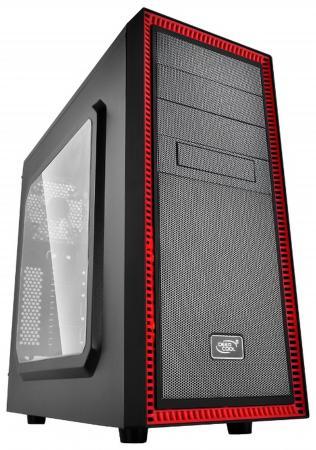 Корпус ATX Deepcool Tesseract SW Red Без БП чёрный красный цена