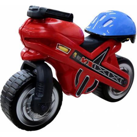 Каталка-мотоцикл Coloma Moto MX пластик от 2 лет 46765 со шлемом каталка ходунок coloma trimarc разноцветный от 18 месяцев пластик