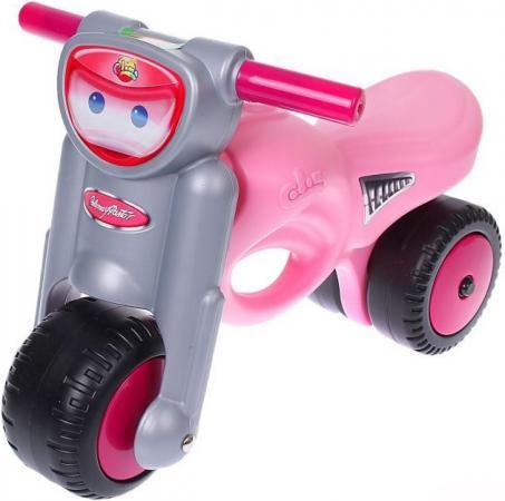 Каталка-мотоцикл Coloma Мини-мото пластик от 2 лет с ручкой розовый 48233 каталки coloma тримарк 2 с панелью