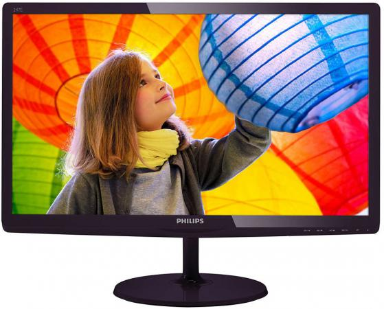 Монитор 23.6 Philips 247E6LDAD 00/01 черный TN 1920x1080 250 cd/m^2 1 ms DVI HDMI VGA Аудио монитор 24 philips 246v5ldsb черный tft tn 1920x1080 250 cd m^2 1 ms dvi hdmi vga аудио