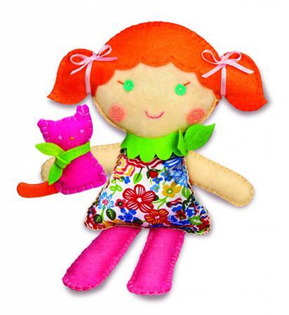 Набор для шитья 4M Школа шитья Кукла и котенок 00-02766