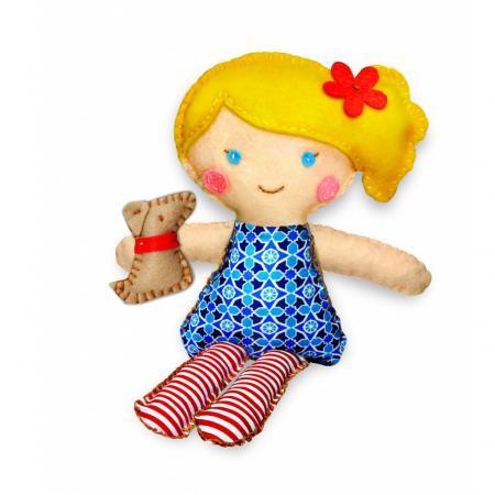 Набор для шитья 4M Кукла и щенок 00-02767