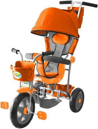Велосипед трехколёсный Rich Toys Galaxy Лучик с капюшоном оранжевый Л001 велосипед r toys galaxy лучик с капюшоном фиолетовый трехколёсный 5598 л001