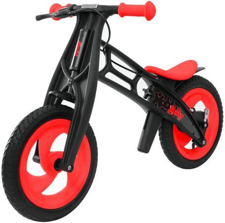 Велобалансир двухколёсный Hobby Bike FLY В черная оса Plastic red/black В-шины волна hobby bike rt fly а