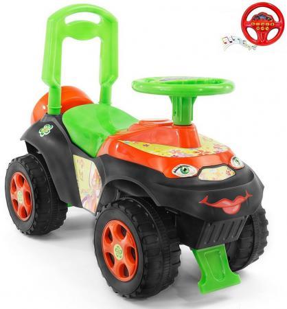 Каталка-машинка Rich Toys Автошка Винкс пластик от 2 лет музыкальная зелено-оранжевая 013117/01К машины rubbabu скутер из натурального каучука с флоковым покрытием 21 см