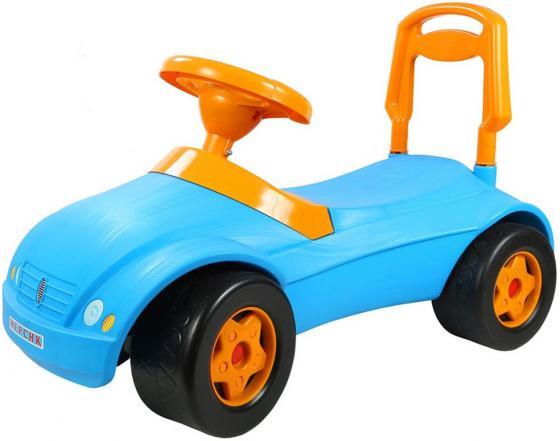 Каталка-машинка Rich Toys Мерсик пластик от 10 месяцев с клаксоном синий ОР016 каталка машинка rich toys джипик police пластик от 8 месяцев с клаксоном красный ор105