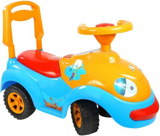 Каталка-машинка Rich Toys Луноходик пластик от 10 месяцев музыкальная синий ОР119 каталка на палочке s s toys вертолет желтый от 1 года пластик