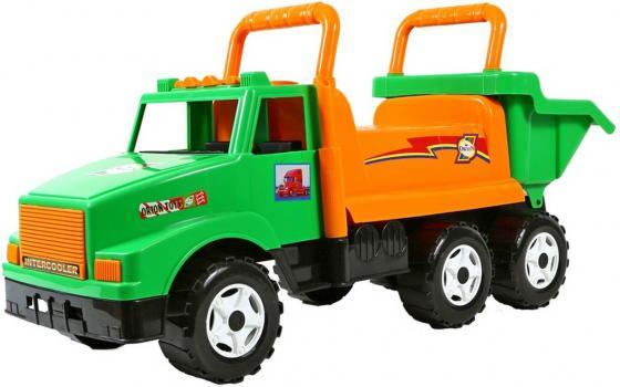 Каталка-самосвал Rich Toys МАГ с кузовом, 6 колёс пластик от 10 месяцев зеленый ОР211 rt ор211 каталка самосвал маг с кузовом 6 колёс зеленая