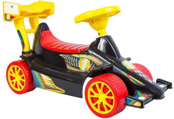 Каталка Rich Toys Гоночный Спорткар Super Sport 1 пластик от 10 месяцев черно-красный ОР894 каталка rich toys гоночный спорткар super sport 1 пластик от 10 месяцев черно красный ор894