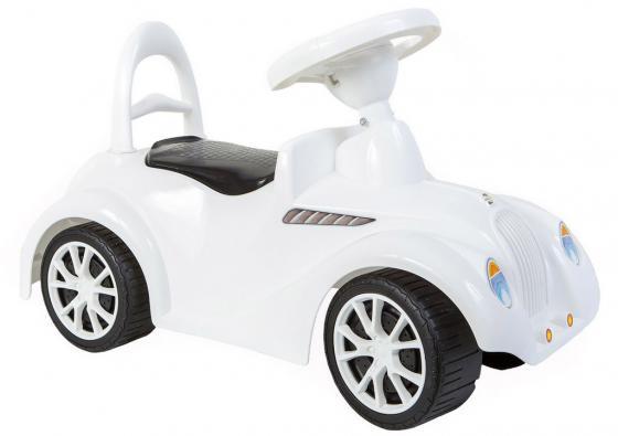 Каталка-машинка Rich Toys Ретро пластик от 10 месяцев с клаксоном белый 5313/ОР900 каталка машинка rich toys джипик police пластик от 8 месяцев с клаксоном красный ор105