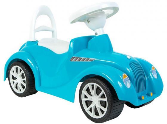 Каталка-машинка Rich Toys Ретро пластик от 10 месяцев с клаксоном голубой 5312/ОР900 каталка машинка rich toys джипик police пластик от 8 месяцев с клаксоном красный ор105