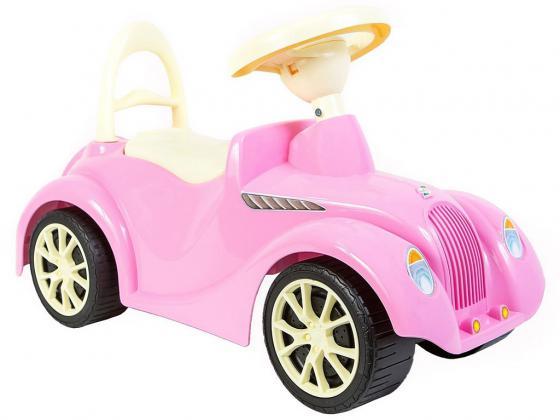 Каталка-машинка Rich Toys Ретро пластик от 10 месяцев с клаксоном розовый 5314/ОР900 каталка машинка rich toys джипик police пластик от 8 месяцев с клаксоном красный ор105