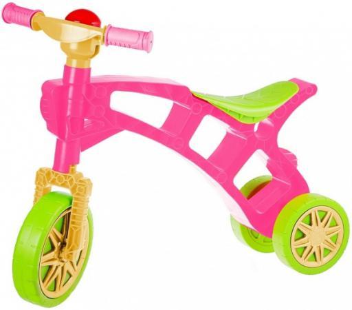 купить Беговел трехколёсный Rich Toys Самоделкин зелено-розовая 3220 недорого