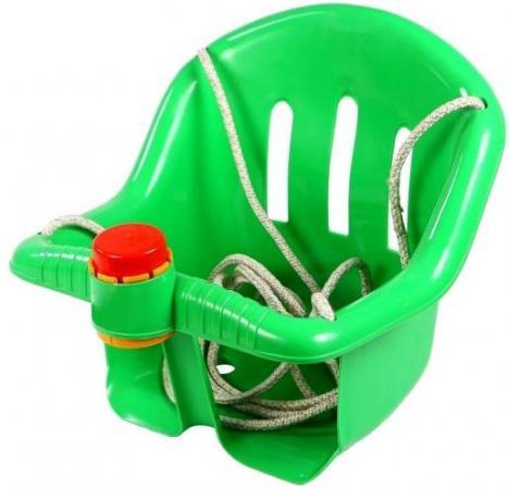 ОР757 Качели с барьером безопасности, с клаксоном зеленые  5261 качели r toys ор757