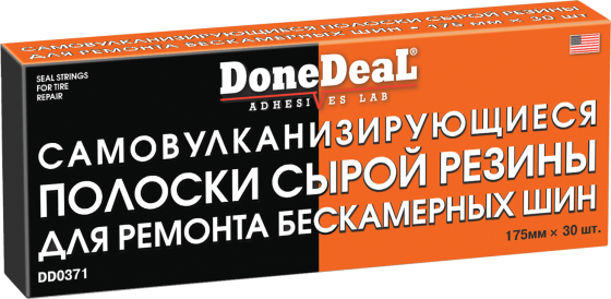 Самовулканизирующиеся резиновые жгуты для ремонта шин Done Deal DD 0371 высокотемпературный бандаж для ремонта глушителя done deal dd 6789