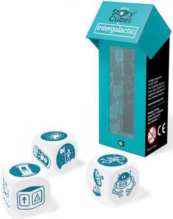 Настольная игра семейная Rorys Story Cubes Кубики Историй: Дополнительный набор Космос RSC13 игра настольная обучающая rory s story cubes кубики историй космос