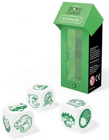 Настольная игра семейная Rorys Story Cubes Кубики Историй: Дополнительный набор Животные RSC17 игра настольная обучающая rory s story cubes кубики историй космос
