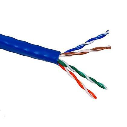 Кабель Lanmaster UTP level 5E 4 пары PVC 200 MHz (305м) синий, 24AWG LAN-5EUTP-BL кабель lanmaster utp level 5e 4 пары pvc 200 mhz 305м синий 24awg lan 5eutp bl