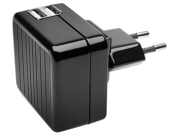 Сетевое зарядное устройство Kensington K39690EU 2.1A 2 х USB черный зарядное