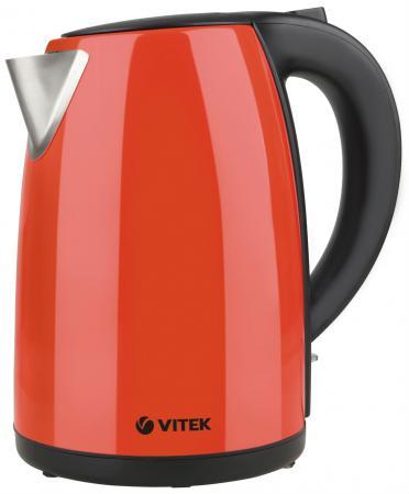 Чайник Vitek VT-7026 2200 Вт красный 1.7 л металл чайник vitek vt 7008 tr 2200 вт чёрный 1 7 л пластик стекло