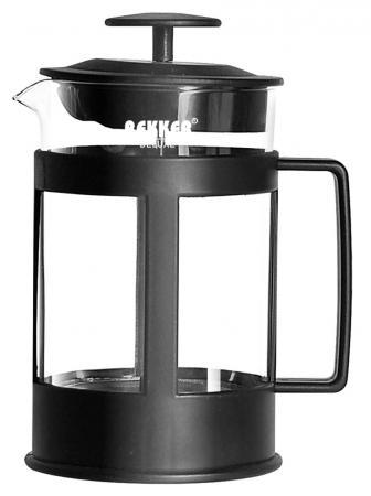 Чайник заварочный Bekker Deluxe BK-369 0.8 л пластик/стекло чёрный прозрачный чайник заварочный bekker 308 вк 1 25 л пластик стекло фиолетовый