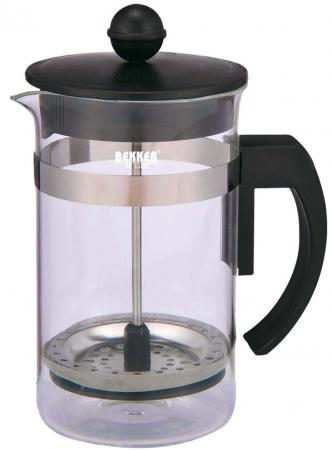 Чайник заварочный Bekker Deluxe BK-389 0.6 л пластик/стекло прозрачный чайник заварочный bekker 303 вк серебристый 0 9 л металл пластик