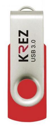 Флешка USB 16Gb Krez красный KREZ401U3R16 флешка usb 32gb krez micro 501 бело зеленый krez501we32