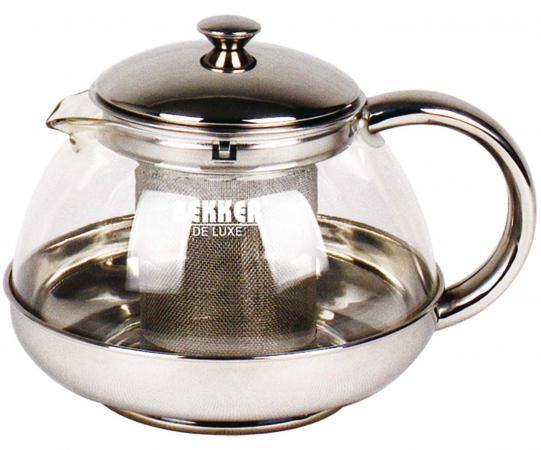 Чайник заварочный Bekker Deluxe BK-397 0.5 л металл/стекло прозрачный чайник bekker deluxe 2 9 л bk s465