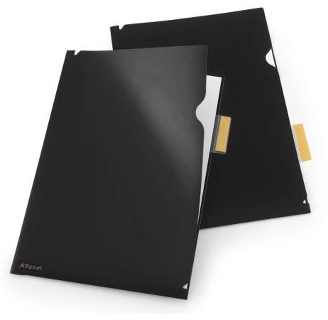 Папка-уголок Rexel Optima A4 черный 5шт 2102475 папка конверт rexel optima a4 синий 5шт 2102478