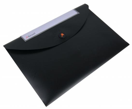Папка-конверт Rexel Optima A4 черный 5шт 2102477 цена