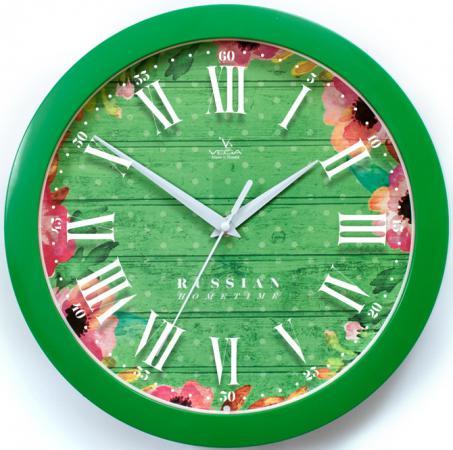 Часы настенные Вега П 1-3/7-285 Яркие краски зелёный вега вега п 2 7 7 3