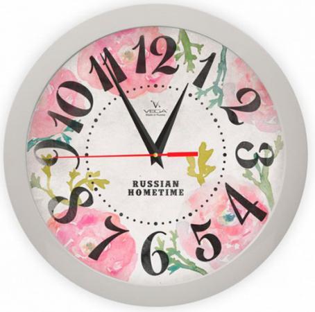 Часы настенные Вега Розовые маки П 1-5/7-269 часы настенные вега п 4 14 7 86 новогодние подарки