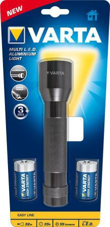 цена на Фонарь Varta MULTI LED ALLUMINIUM 2 C/LR14 светодиодный